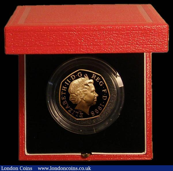 Fifty Pence 1998 NHS 50th Anniversary Gold Proof S.H10 FDC in the Royal Mint box of issue with certificate, only 651 pieces issued : English Cased : Auction 168 : Lot 357