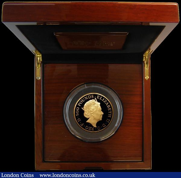 Five Hundred Pounds 2018 Britannia - Spirit of a Nation, 5oz. Gold Proof S.BR5 the odd small nick otherwise FDC in the Royal Mint box of issue with certificate and booklet, number 31 of just 95 issued, with only 90 in this format : English Cased : Auction 168 : Lot 392