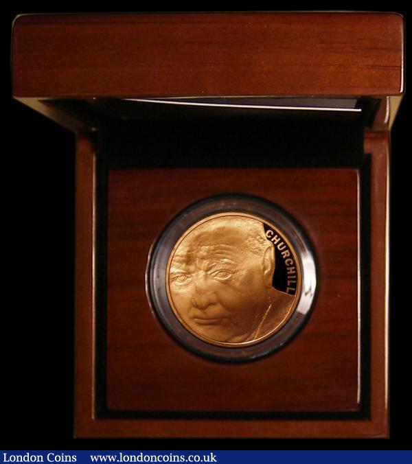Five Pound Crown 2015 50th Anniversary of the Death of Sir Winston Churchill Gold Proof S.L38 FDC in the Royal Mint box of issue with certificate, only 770 issues with just 620 in this format : English Cased : Auction 168 : Lot 412
