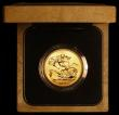 London Coins : A168 : Lot 428 : Five Pounds 1990 Gold  S.4252 BU in the original case of issue with certificate
