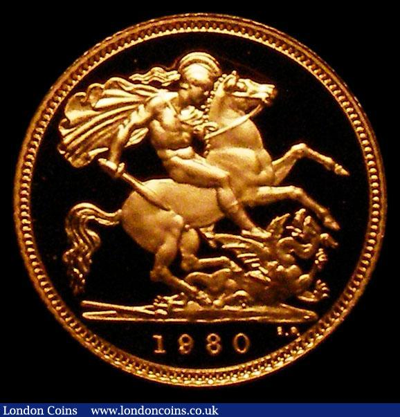 Half Sovereign 1980 Proof FDC in the red case of issue with certificate : English Cased : Auction 168 : Lot 442
