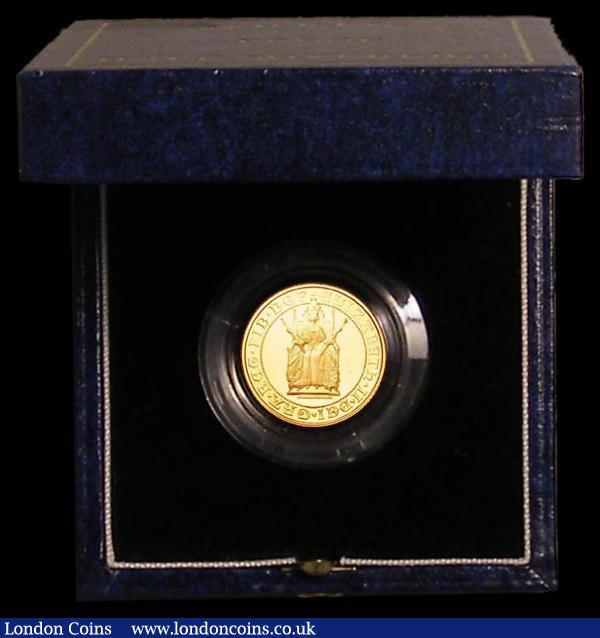 Half Sovereign 1989 500th Anniversary of the First Gold Sovereign Proof FDC cased as issued with certificate : English Cased : Auction 168 : Lot 446