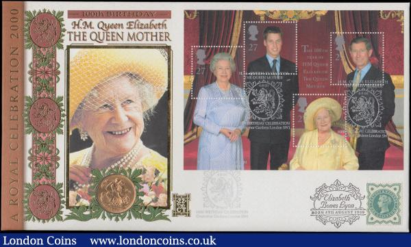 Sovereign 1900 VF in Benham's Queen Mother Sovereign Cover : English Cased : Auction 168 : Lot 501