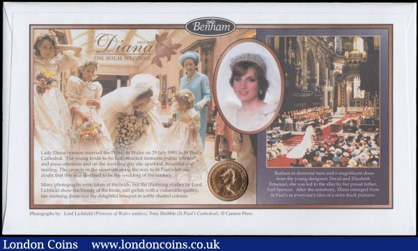 Sovereign 1981 BU in Benham's Princess Diana Sovereign Cover : English Cased : Auction 168 : Lot 510