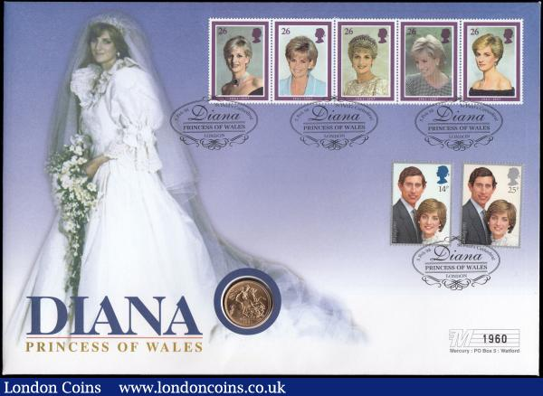 Sovereign 1981 BU in Diana Princess of Wales Coin Cover : English Cased : Auction 168 : Lot 512
