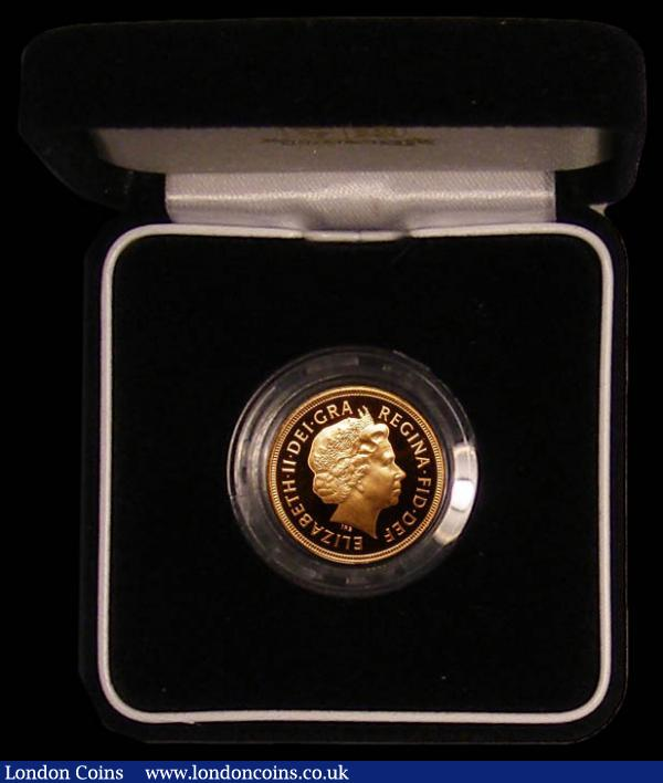 Sovereign 2001 Proof FDC in the case of issue with certificate : English Cased : Auction 168 : Lot 520