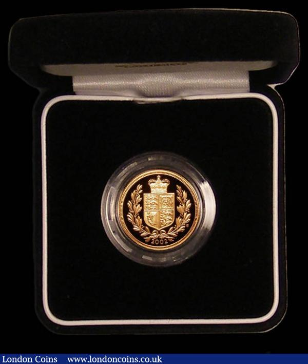 Sovereign 2002 Proof FDC in the case of issue with certificate : English Cased : Auction 168 : Lot 522