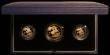 London Coins : A168 : Lot 583 : The 1988 United Kingdom Gold Proof, the three coin set Double Sovereign, Sovereign and Half Sovereig...