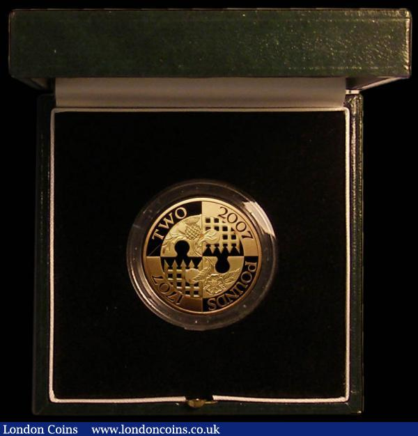 Two Pounds 2007 300th Anniversary of the Act of Union Gold Proof S.K22 FDC in the Royal Mint box of issue, only 750 issued : English Cased : Auction 168 : Lot 611