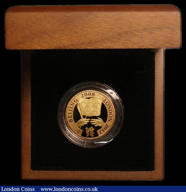 Two Pounds 2008 Olympic Games Handover to London Gold Proof S.4952 Gold Proof FDC in the Royal Mint box of issue with certificate : English Cased : Auction 168 : Lot 613