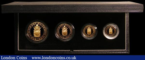 United Kingdom 1989 Gold Proof Sovereign Four Coin Collection 500th Anniversary of the Sovereign, Five Pounds, Two Pounds, Sovereign and Half Sovereign FDC, in the Royal Mint box of issue with certificate : English Cased : Auction 168 : Lot 628
