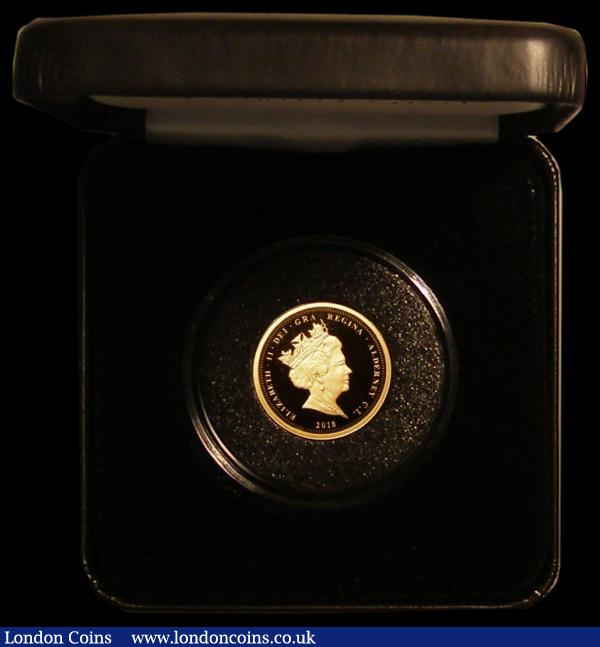 Alderney One Pound 2018 The Royal Wedding of Prince Harry and Ms Meghan Markle Gold Proof Piedfort, 16 grammes of .916 gold, FDC in a Jubilee Mint box with certificate, only 25 issued : World Cased : Auction 168 : Lot 636
