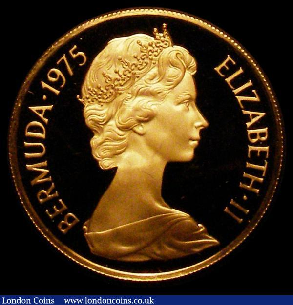 Bermuda $100 1975 Royal Visit Gold Proof KM#24 FDC in the Franklin Mint box of issue : World Cased : Auction 168 : Lot 648