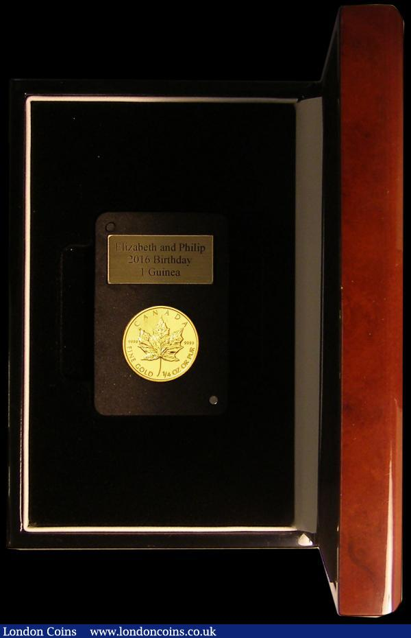 Canada Ten Dollars Gold 2010 Maple Leaf, one Quarter Ounce of .999 gold BU with London Mint Office certificate : World Cased : Auction 168 : Lot 656