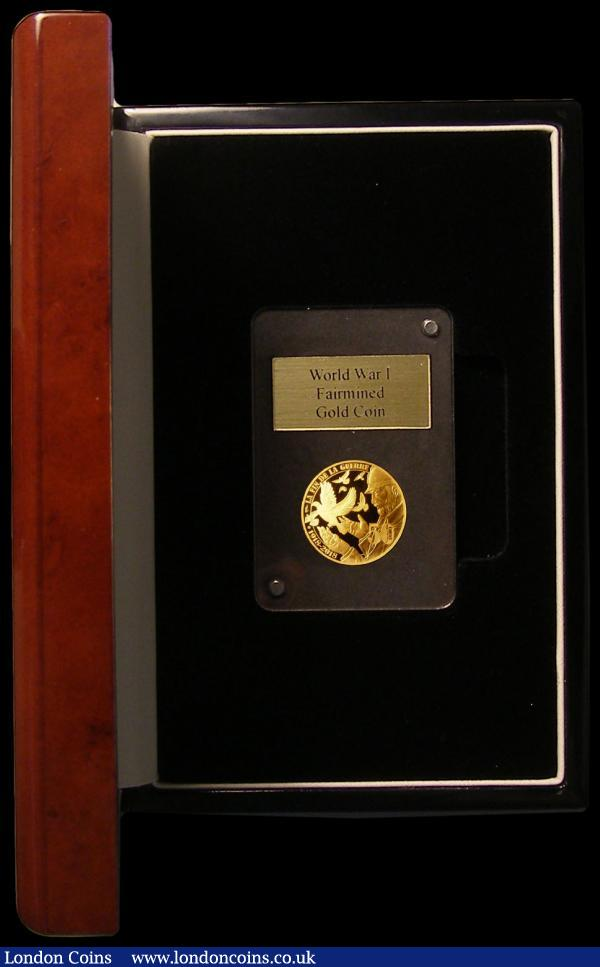 France 50 Euros Gold 2018 100th Anniversary of the End of World War I Gold Proof, 7.78 grammes of .999 Gold FDC in the London Mint Office box with Monnaie de Paris certificate : World Cased : Auction 168 : Lot 660