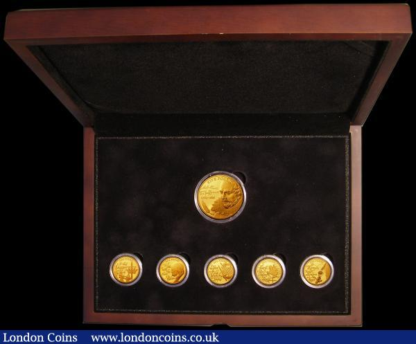 1948 Australian Pre decimal 5 coin set in velour display case