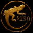 London Coins : A168 : Lot 769 : Fiji $250 Gold 1978 Wildlife Conservation Series - Banded Iguana KM#43 Proof FDC in a PCGS holder an...
