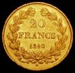 London Coins : A168 : Lot 771 : France 20 Francs Gold 1840A KM#750.1 NEF