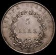 London Coins : A168 : Lot 812 : Italian States - Venice 5 Lire 1848V, 22 Marzo 1848 legend, correct spelling of BENEDITE on edge KM#...