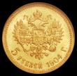London Coins : A168 : Lot 837 : Russia 5 Roubles 1904 NGC MS64