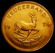 London Coins : A168 : Lot 849 : South Africa Krugerrand 1974 Unc