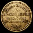 London Coins : A168 : Lot 899 : Charlie Chaplin 'The Goldrush' 1926 26mm diameter in brass, Obverse: Facing bust of Charli...