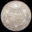 London Coins : A169 : Lot 1025 : Morocco 5 Dirhams AH1320 London Mint Y#22.1 UNC or near so and lustrous the obverse with small spots