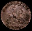 London Coins : A169 : Lot 1137 : USA Washington Cent 1793 3 over 2, Breen 1225 Anglesey edge, 10.42 grammes, an earlier striking with...