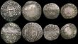 London Coins : A169 : Lot 1210 : Hammered a small group (8) Sixpences (5) Elizabeth I 1570 mintmark Castle. 1575 mintmark Eglantine. ...