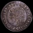 London Coins : A169 : Lot 1239 : Shilling James I Third Coinage, Sixth (Large) bust, Reverse with Plume over shield S.2669, North 212...