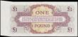 London Coins : A169 : Lot 125 : British Armed Forces 1 Pound ERROR mis-cut fishtail with extra paper to right Pick M36 4th Series ND...