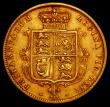 London Coins : A169 : Lot 1510 : Half Sovereign 1872 Nose points between T and O in VICTORIA, S.3860D, Marsh 447, Die Number 227, thi...