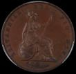 London Coins : A169 : Lot 1613 : Halfpenny 1839 Bronzed Proof, as Peck 1523 but with 39 over 43 in the date, these produced from an a...