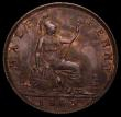 London Coins : A169 : Lot 1622 : Halfpenny 1865 5 over 3 Freeman 297 dies 7+G very clear overstrike GEF with traces of lustre, extrem...