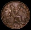 London Coins : A169 : Lot 1623 : Halfpenny 1868 Freeman 303 dies 7+G approaching UNC with traces of lustre and very scarce in this gr...
