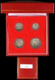 London Coins : A169 : Lot 1650 : Maundy Set 1903 ESC 2519, Bull 3609 EF to A/UNC colourfully toned, a little uneven in parts, still w...