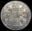 London Coins : A169 : Lot 1715 : Shilling 1721 Roses and Plumes ESC 1171, Bull 1577 (8 strings to Harp) EF the obverse with some haym...