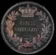 London Coins : A169 : Lot 1738 : Shilling 1839 Plain Edge Proof, No W.W on truncation, ESC 1282, Bull 2977, in a PCGS holder and grad...