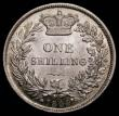 London Coins : A169 : Lot 1740 : Shilling 1844 ESC 1291, Bull 2990 A highly lustrous example displaying original mint bloom, further ...