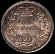 London Coins : A169 : Lot 1744 : Shilling 1859 ESC 1307, Bull 3015, Davies 879 dies 4A (Obverse: I of VICT points to a rim tooth, Rev...