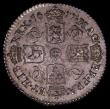 London Coins : A169 : Lot 1783 : Sixpence 1677 G of MAG overstruck, over an O or damaged G, as ESC 1516, Bull 572 NEF