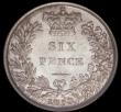 London Coins : A169 : Lot 1809 : Sixpence 1853 ESC 1698, Bull 3189 a very pleasing example with original mint lustre and some toning ...