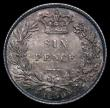 London Coins : A169 : Lot 1811 : Sixpence 1859 ESC 1708, Bull 3203 with a light attractive and colourful tone, in an LCGS holder and ...