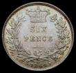 London Coins : A169 : Lot 1813 : Sixpence 1864 Large Date with serif 4, ESC 1713, Bull 3211, Davies 1065, Die Number 30, a choice and...