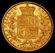 London Coins : A169 : Lot 1877 : Sovereign 1872 Shield Reverse, No Die Number, Marsh 47 EF/GEF and lustrous