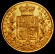 London Coins : A169 : Lot 1878 : Sovereign 1872M Shield Reverse Marsh 59 NEF/EF with light contact marks