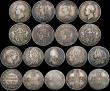 London Coins : A169 : Lot 2032 : Double Florins to Sixpences (18) Double Florins (3) 1887 Roman 1, 1887 Arabic 1, 1889, Halfcrowns (1...