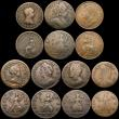 London Coins : A169 : Lot 2066 : Halfpennies (2) 1719, 1720, Farthings (11) 1672, 1673, 1694 (2), 1696 Small B in BRITANNIA, 1722, 17...