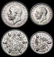 London Coins : A169 : Lot 2075 : Part Proof Set 1927 (5 coins) Halfcrown, Florin, Shilling, Sixpence and Silver Threepence nFDC and l...
