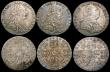 London Coins : A169 : Lot 2103 : Shillings 1787 Hearts (2) VF/GVF and Fine, Sixpences 1787 Hearts (3) VF/GVF toned, GVF/NEF toned and...